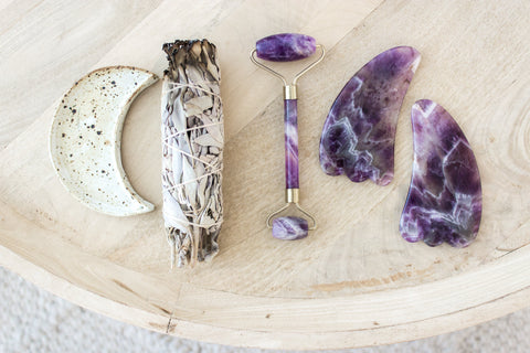 Amethyst Gua Sha and Sage