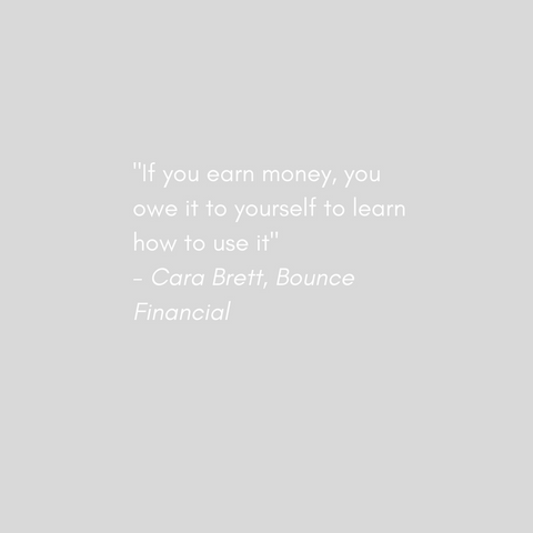 Cara Brett Bounce Financial Quote