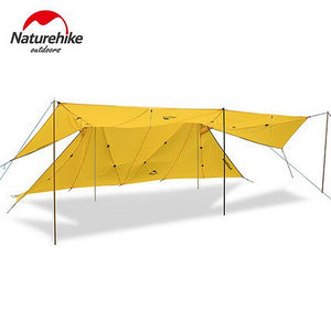 Naturehike 20D Silicone Nylon Large Waterproof Camping Tent 8-10 Person Single Layer Hiking A Tower Tarp Outdoor Tents 2 Colors