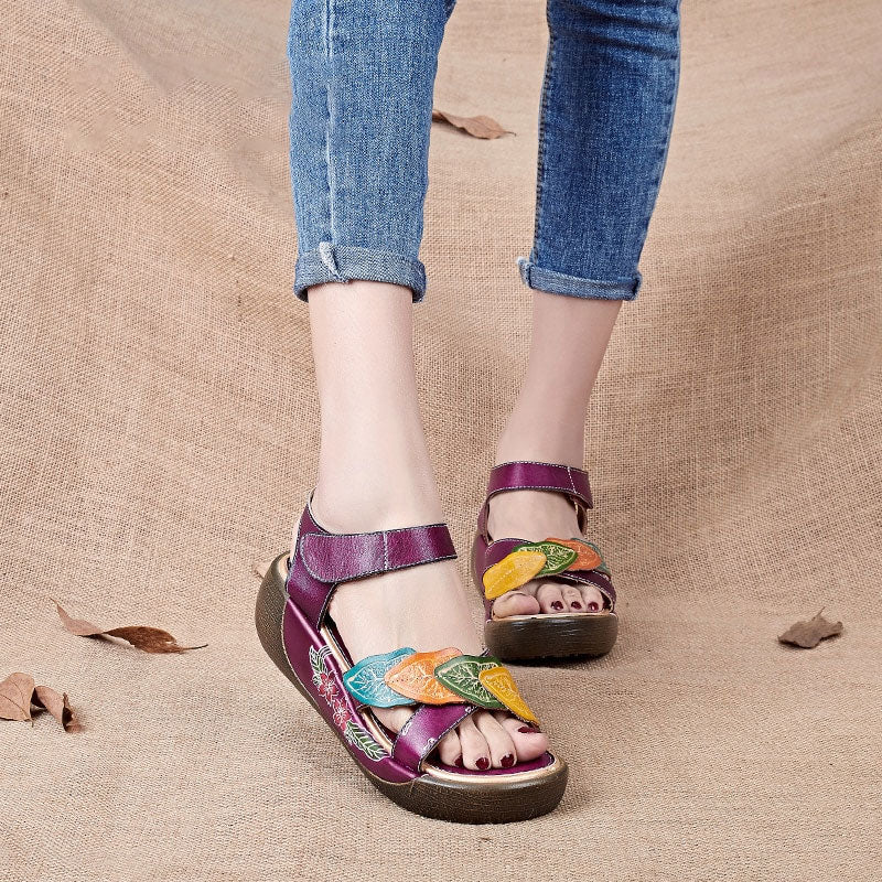 Women Sandals Genuine Leather Gladiator Sandals Women Shoe Fashion Flat Casual Shoe Handmade Sandals Female