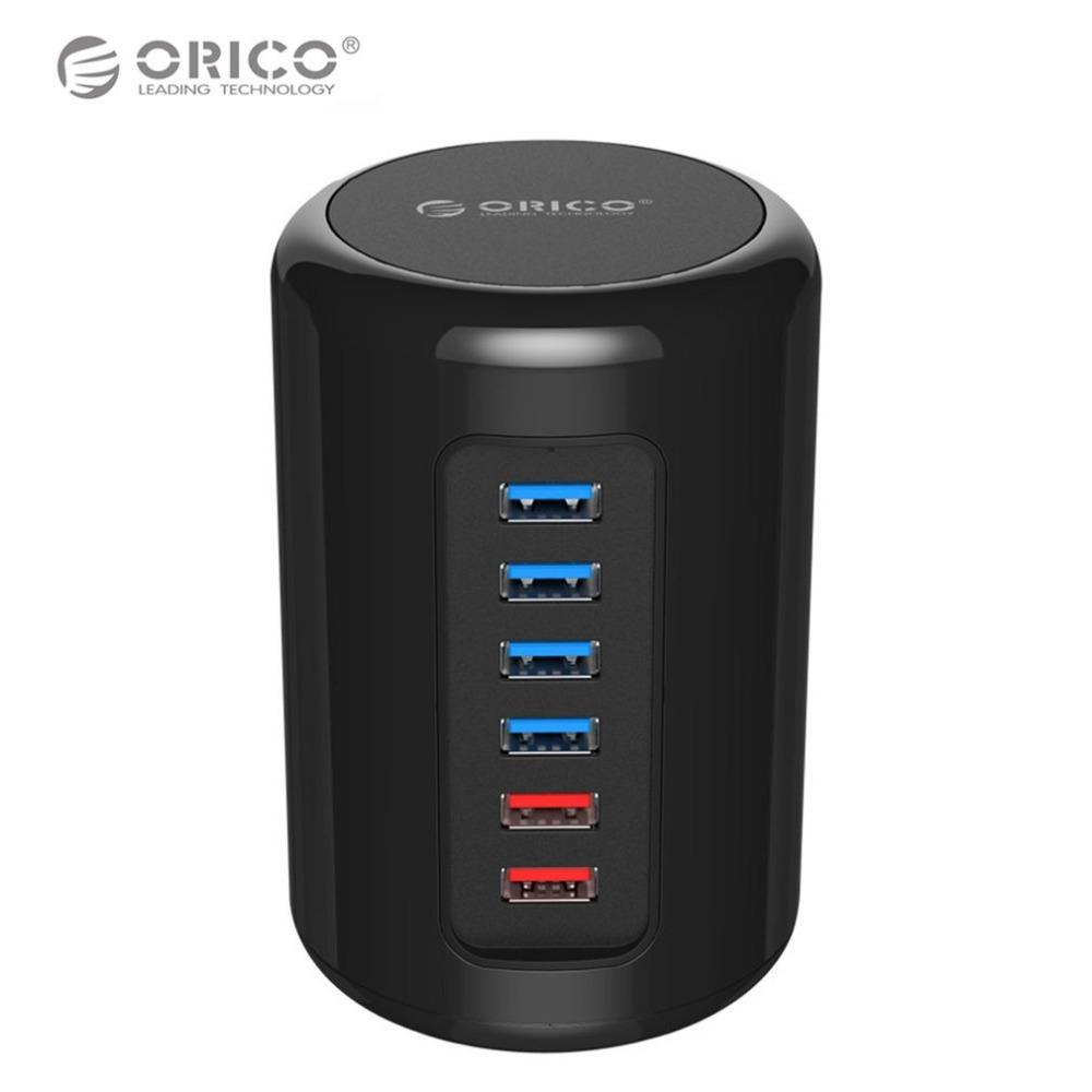ORICO RH4CS Multi-ports USB3.0 HUB High Speed 6 Ports USB Splitter 2.4A Fast Charging Charger