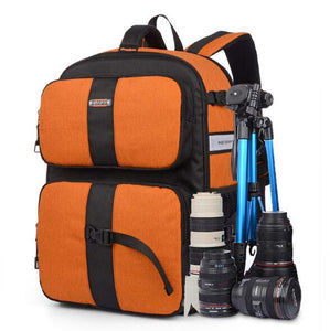 SINPAID Multifunctional DSLR SLR Camera Backpack Large Space Waterproof Photography Accessories Bag