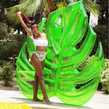 Load image into Gallery viewer, 180cm Giant Hawaii Palm Tree Green Leaf Inflatable Float Pool Raft Foliage Floats Water Party Toys Swimming Ring For Adult Child