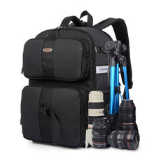 Load image into Gallery viewer, SINPAID Multifunctional DSLR SLR Camera Backpack Large Space Waterproof Photography Accessories Bag