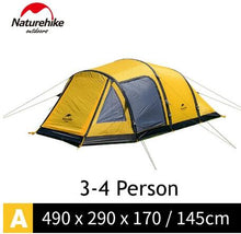 Load image into Gallery viewer, NatureHike Wormhole TPU Inflating Poles Large Camping Tents For Family Holiday 3-4/4-6/8-10 Person