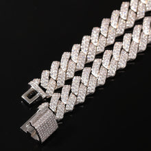Load image into Gallery viewer, 13mm Micro Pave Prong Cuban Chain Necklaces Fashion Hiphop Full Iced Out Cubic Zirconia Jewelry For Men Women