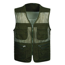 Load image into Gallery viewer, 2019 Men Multi-Pocket Classic Waistcoat Male Sleeveless Unloading Solid Coat Work Vest Photographer Tactical Masculino Jacket