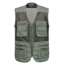 Load image into Gallery viewer, Large Size 2019 Mesh Quick-Drying Vests Male with Many Pockets Mens Breathable Multi-pocket Fishing Vest Work Sleeveless Jacket