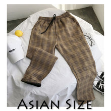 Load image into Gallery viewer, Privathinker Men Women Korean Black Plaid Casual Pants 2020 Mens Streetwear Harem Pants Male Checkered Trousers Plus Size