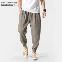 Load image into Gallery viewer, Privathinker Cotton Linen Casual Harem Pants Men Joggers Man Summer Trousers Male Chinese Style Baggy Pants 2020 Harajuku Clothe