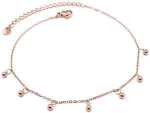 bracelet cheville rose gold
