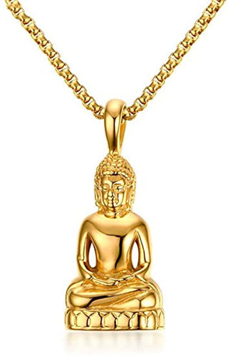 collier or bouddha
