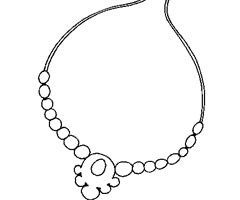 coloriage collier perle
