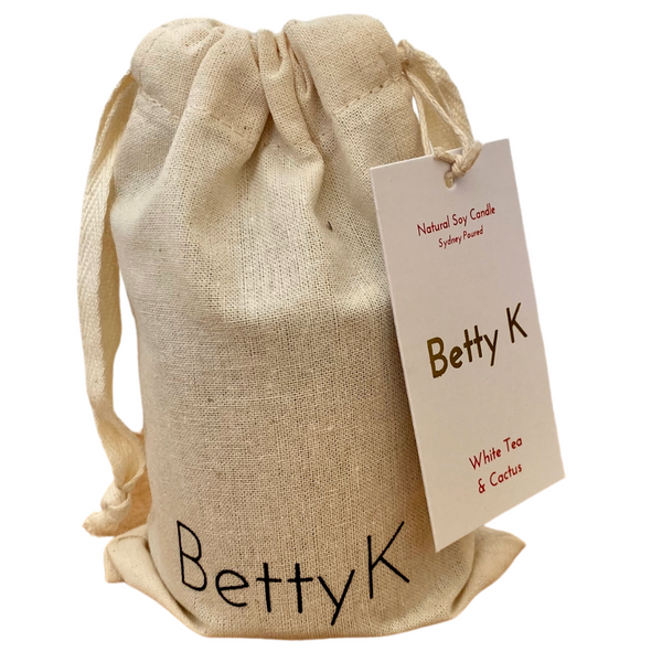 Betty K | White Tea & Cactus Small Natural Soy Candle | Relax