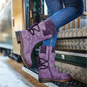Winter lace-up boots for women
