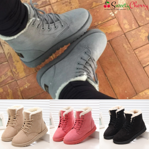 SweetyCherry® Anti-Slip Waterproof Lace Up Snow Boots For Women