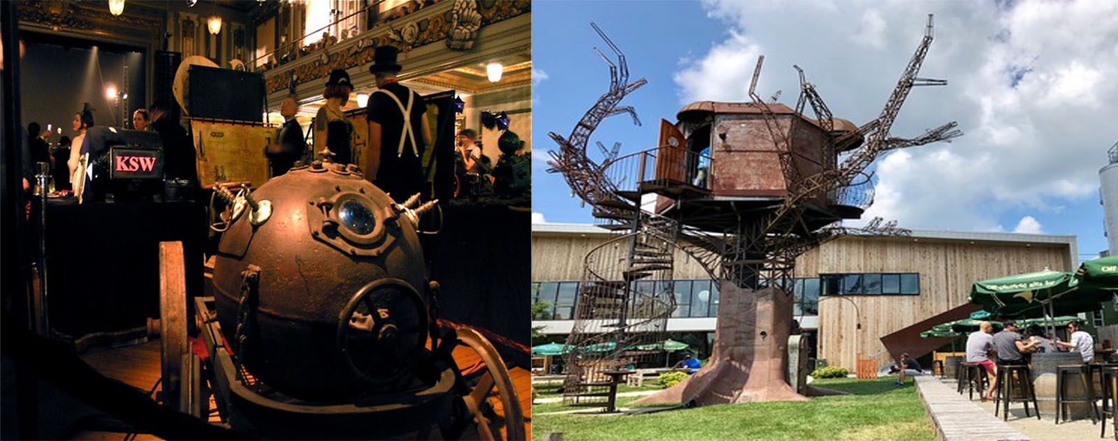 Steampunk tree house - Kinetic steam work