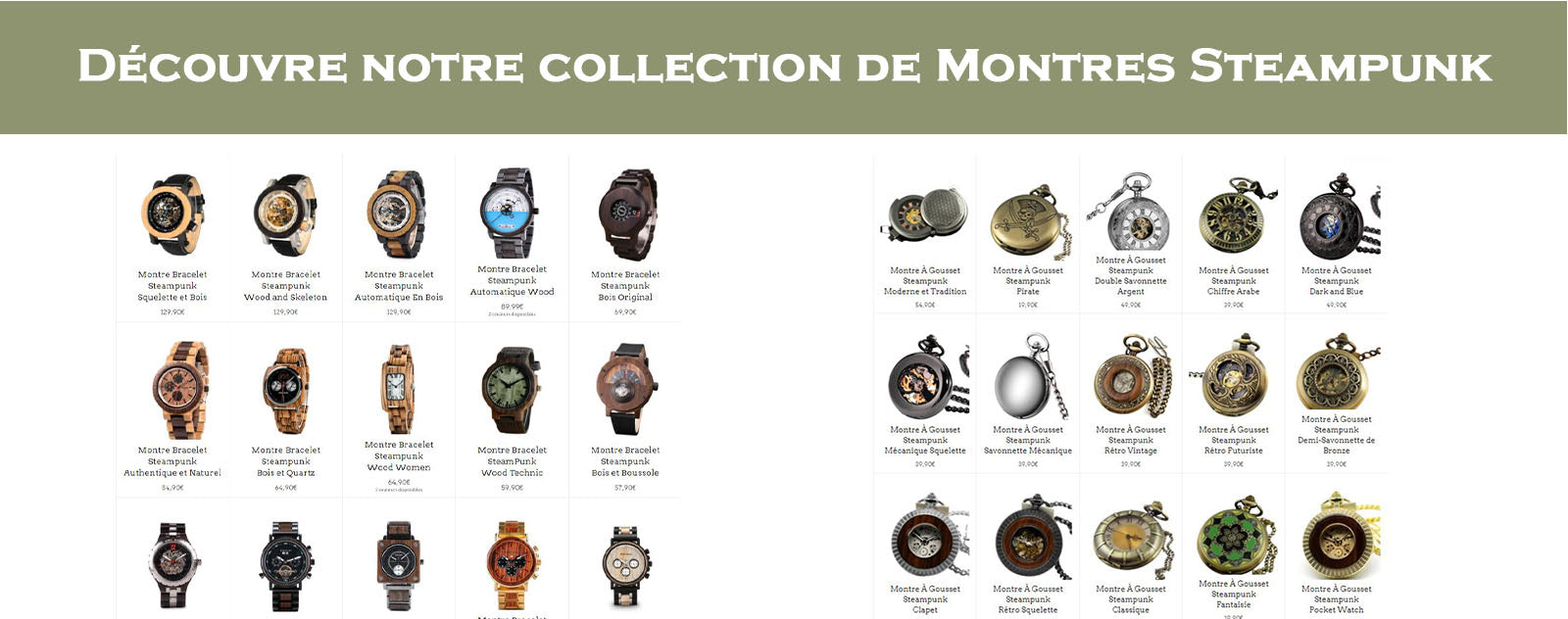 Collection de Montres Steampunk