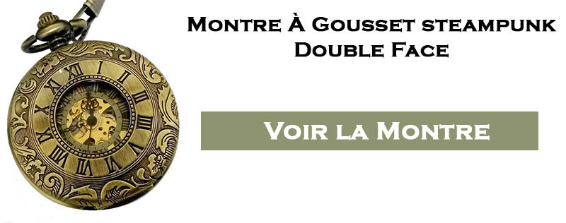 Montre a gousset steampunk double face
