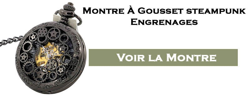 Montre gousset steampunk engrenages
