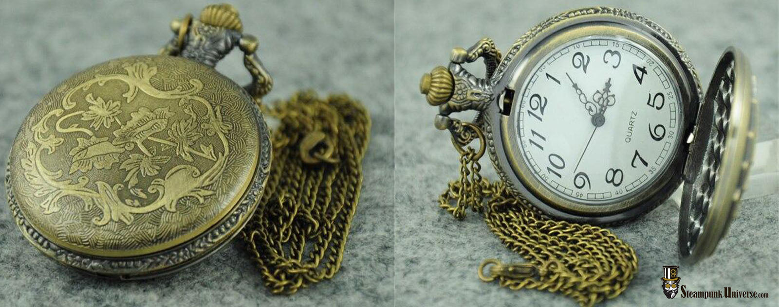Montre à gousset steampunk poker