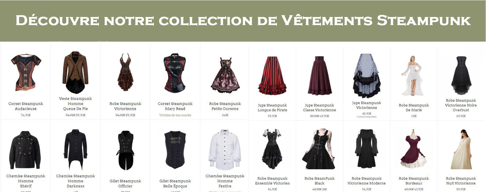 Collection Vêtement steampunk