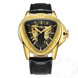 Montre Triangulaire Homme or
