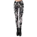 Face du Stretch Leggings Printed