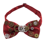 Nœud Papillon Steampunk <br> Rouge