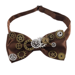 Nœud Papillon Steampunk <br> Marron