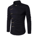 Chemise Steampunk Homme <br> Double Boutonnage