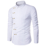 Chemise Steampunk Homme <br> Blanche