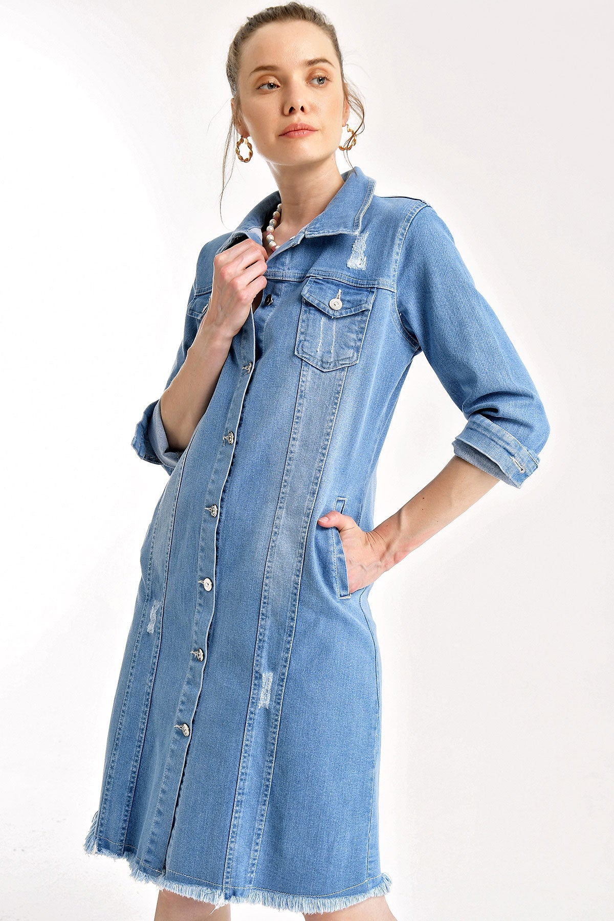 Women's Long Denim Jacket