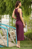 Women's Sleeveless Damson Overalls