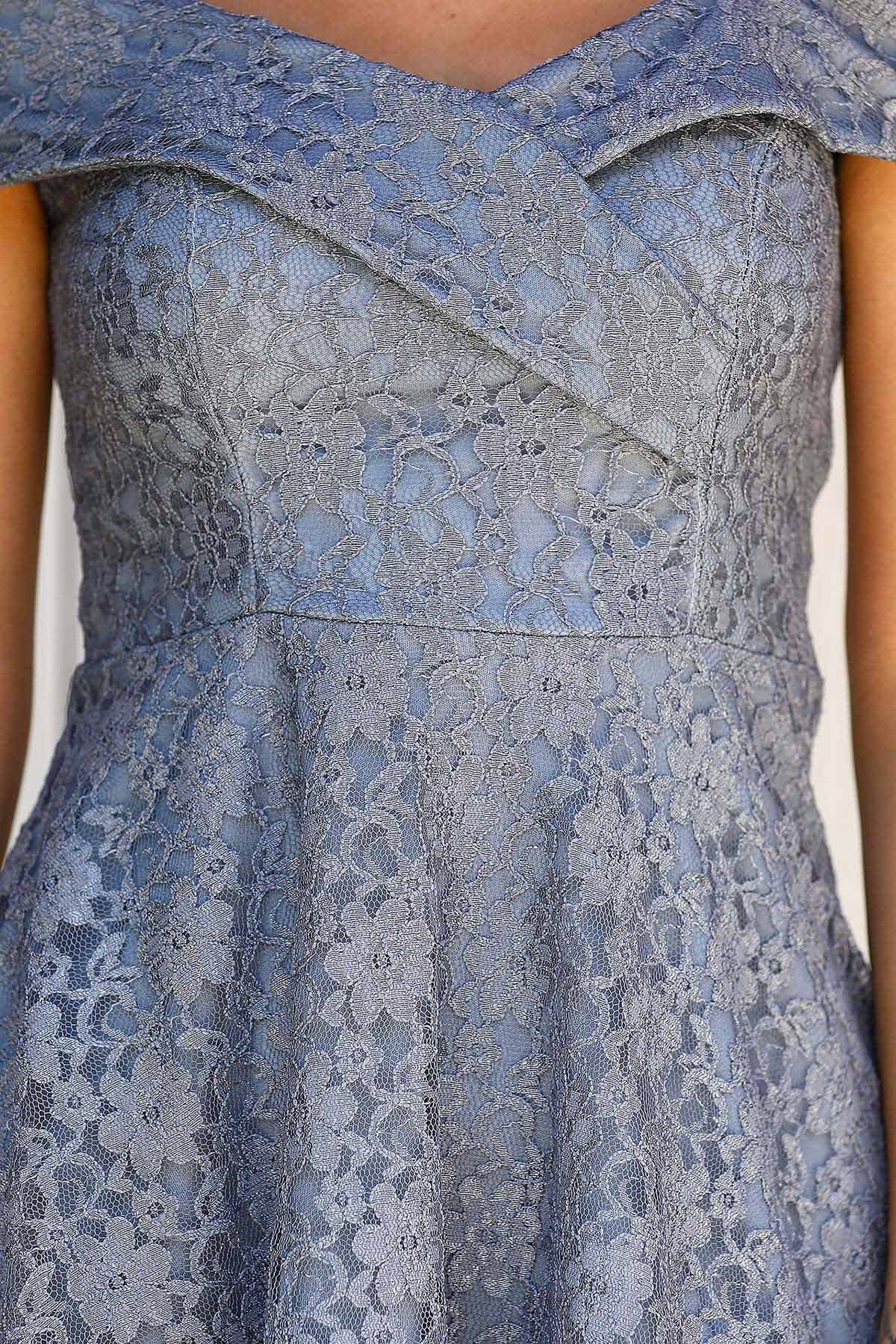 Women's Grey Lace Dress