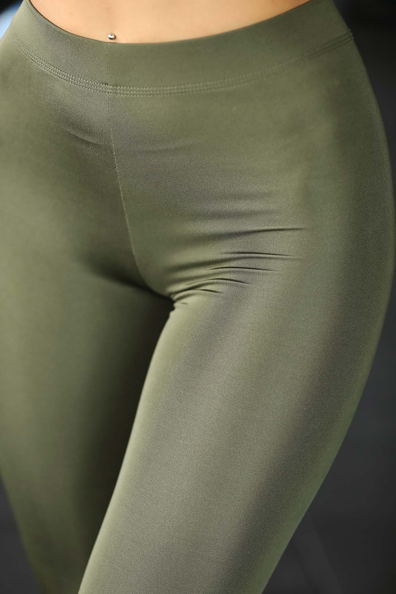 Women's Shiny Khaki Tights