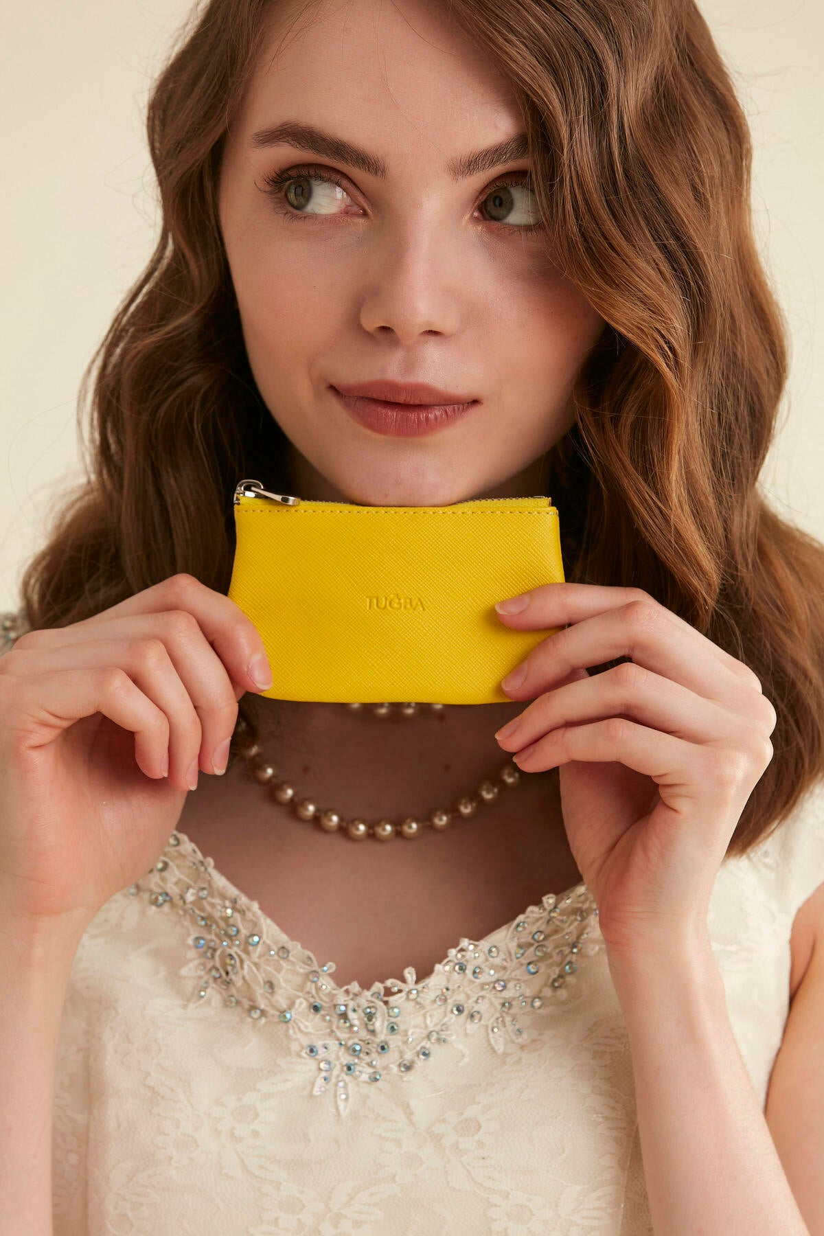 Women's Yellow Leather Wallet