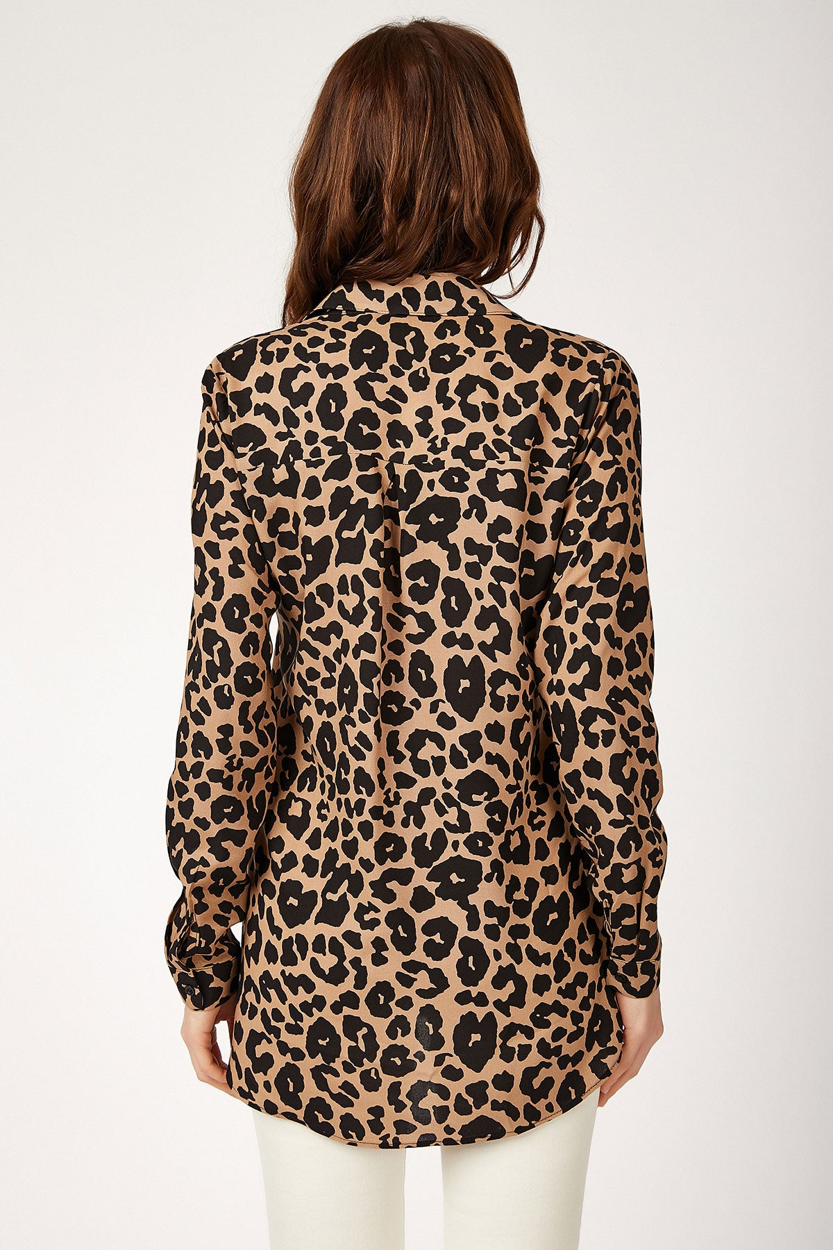 Women's Leopard Pattern Viscose Shirt