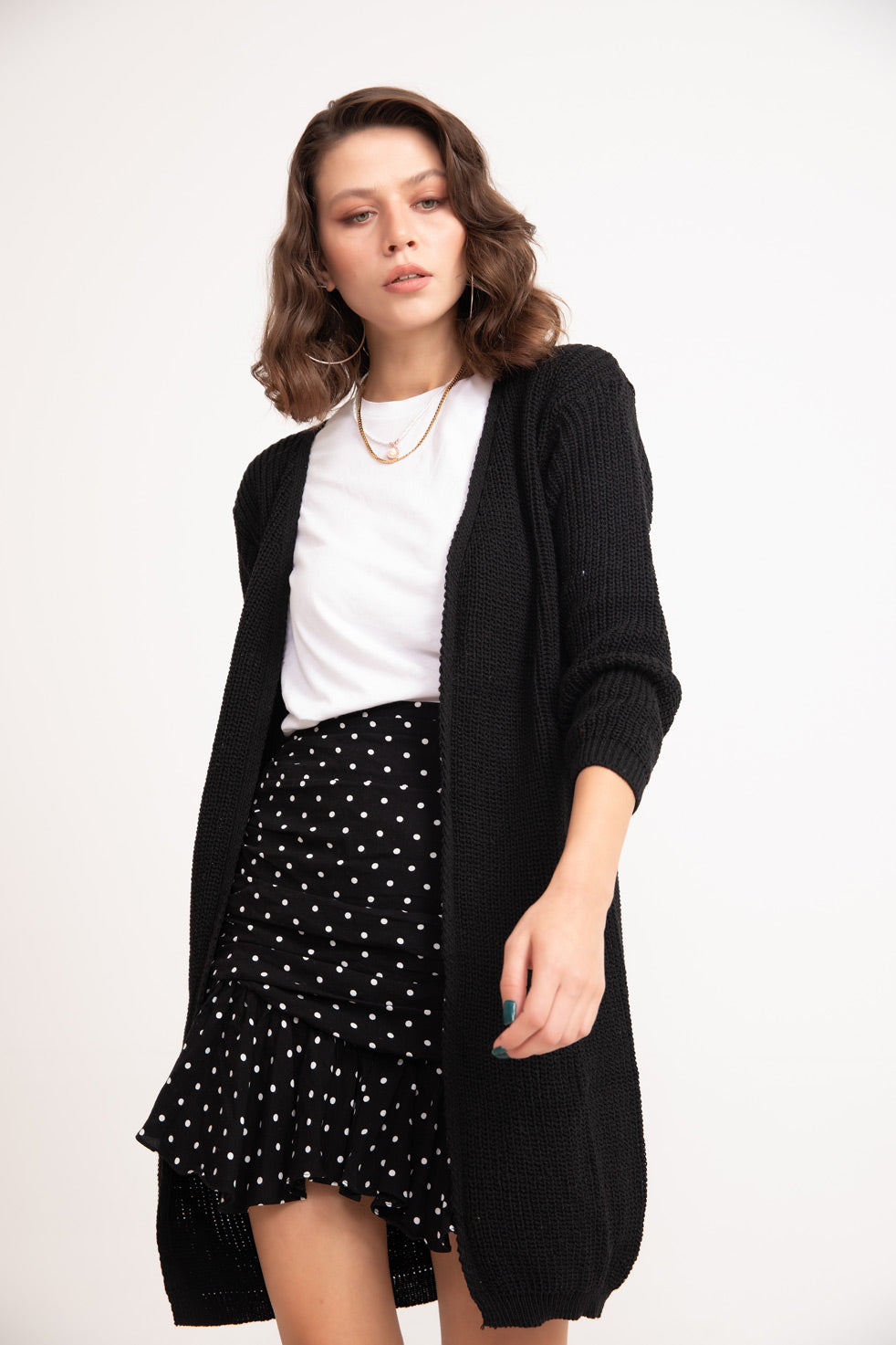Women's Basic Black Cardigan