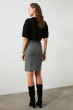 Women's High Waist Grey Short Skirt