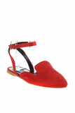 Women's Red Suede Babette