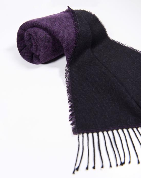 Women's Reversible Thick Black - Purple Shawl