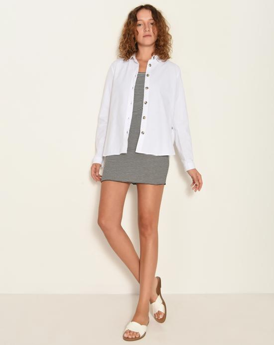 Women's Button White Shirt