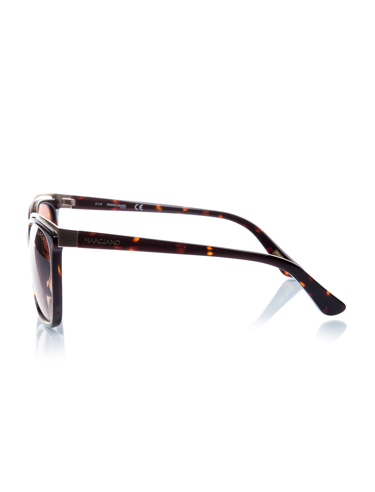 Women's Patterned Brown Plastic Sunglasses