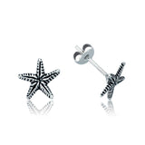 Women's Silver Starfish Earrings