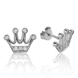 Women's Silver Crown Earrings
