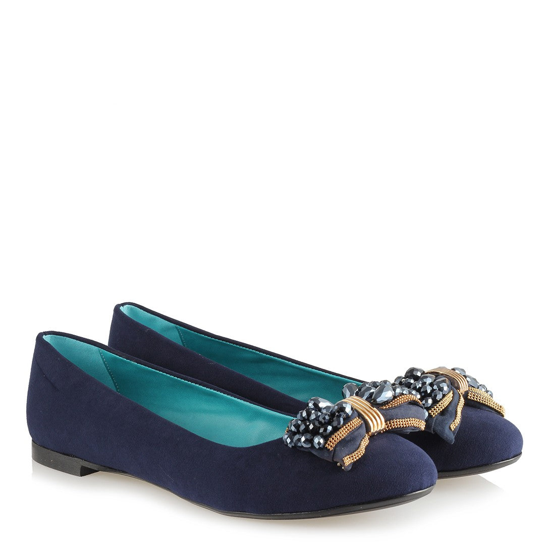 Women's Buckle Navy Blue Babette