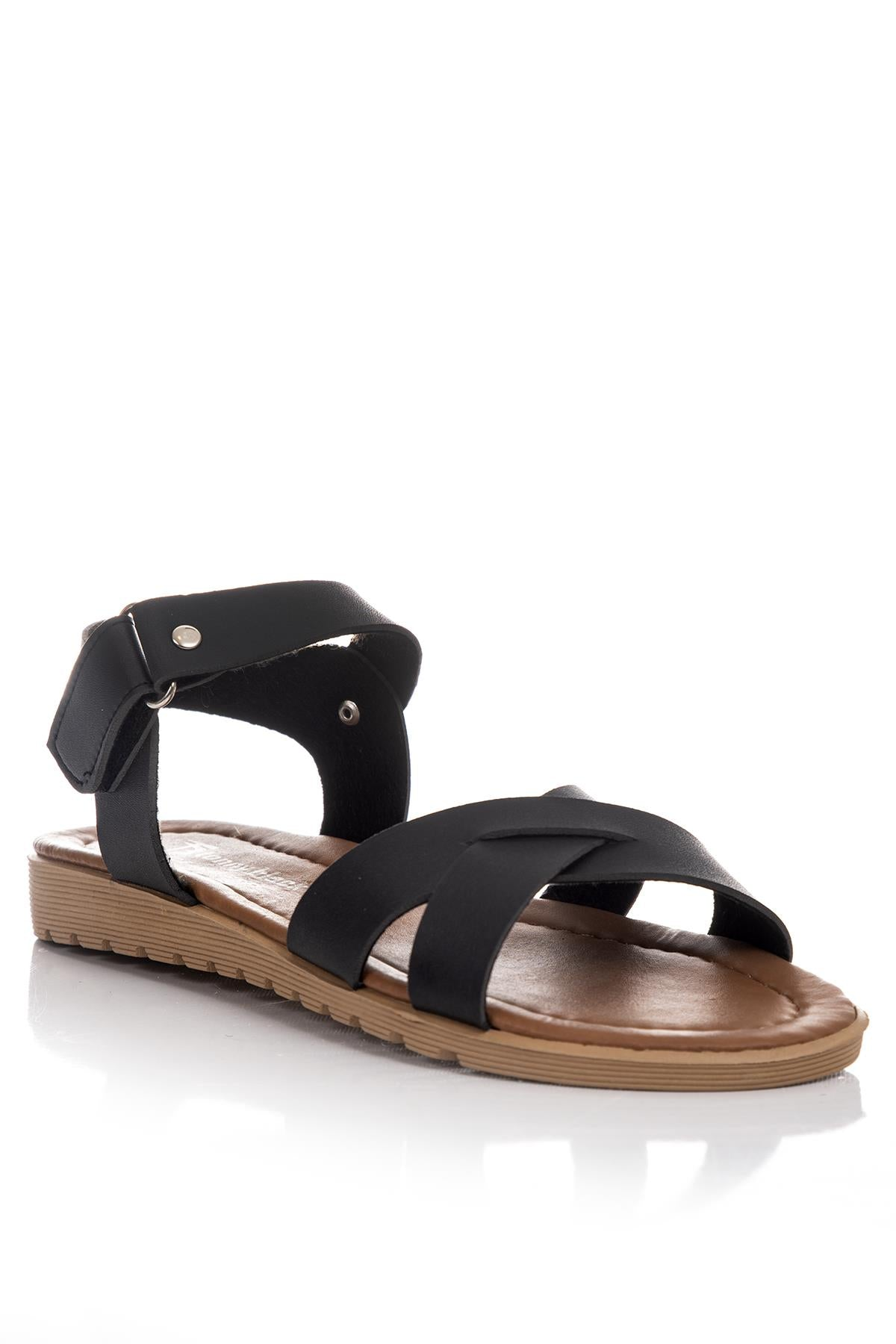 Women's Black Casual Sandals