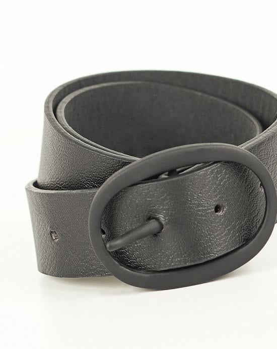 Women's Buckle Black Belt