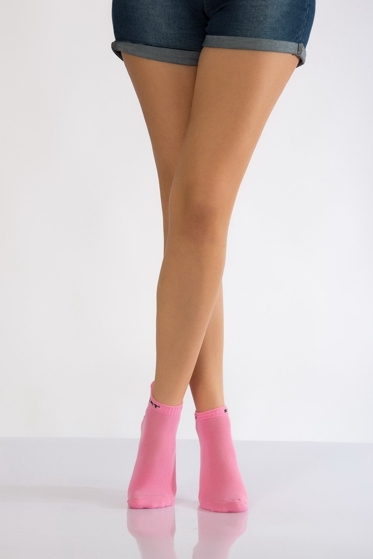 Women's Pink Booties Socks- 3 Pairs